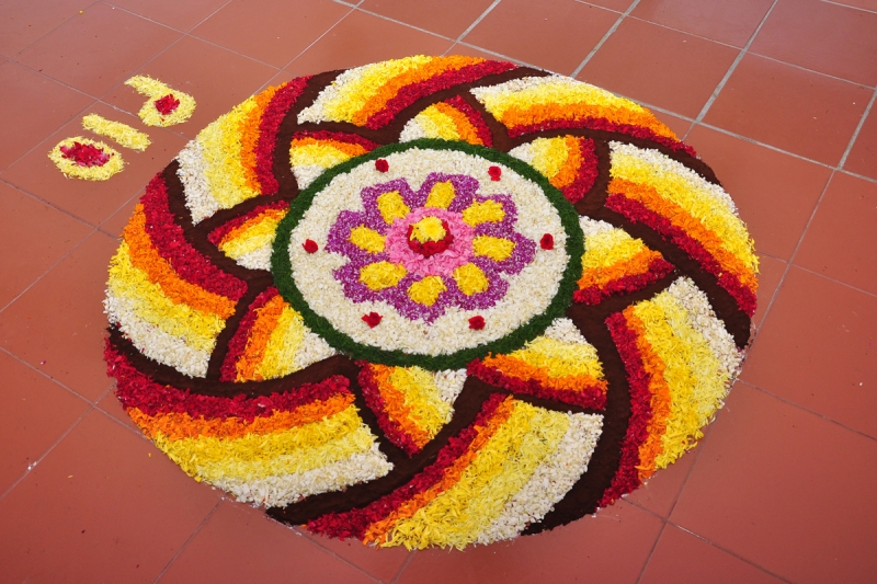Pookalam Competition HSS First